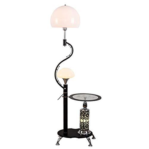 Hong Yi Fei-Shop Luminosità Lampada Creative Lampada da Terra Soggiorno Camera da Letto Comodino Lampada da Terra Nera con 7 Watt Lampada da Salotto (Color : B)