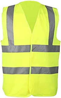 INS SAFE Reflective Vest Safety Jacket High Visibility Light Weight Breathable Washable Fabric 2 inch 2 Straps Horizontal ...