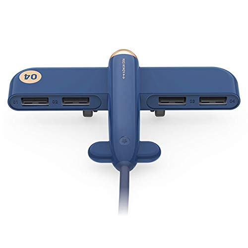 Fengyuechen Hub Adapter,,3life-308 5V 0.5A 4 USB Interfaces Air Force One Extender HUB Data Hub for iMac Pro,Notebook PC and Other Type C Devices (Color : Blue)