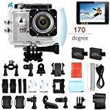 PINGKO Action Camera F71,WiFi Full HD Sport Action Camera 1080P 30fps 12MP 2.0' Schermo LCD Lente Grandangolare 170 Gradi Camera per Immersioni con 2 Batterie