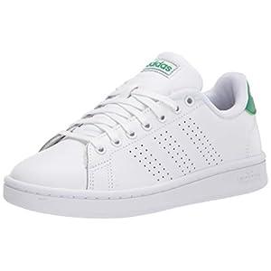 adidas Men's Advantage Tennis Shoe, FTWR White/White/Green, 10.5 M US