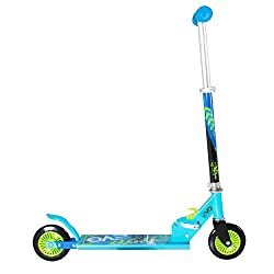 GREAT FOR YOUNG CHILDREN - This inline scooter features an easy push back break on the wheel . For safety precautions a helmet is advised. EASY TO ASSEMBLE - Very simple to assemble and pack up and store away. This great boys scooter is fun and brigh...