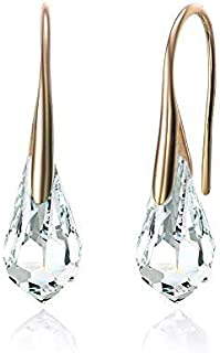Mestige MSER3137 Women's Gold Plated Crystals Drop and Dangle Earrings