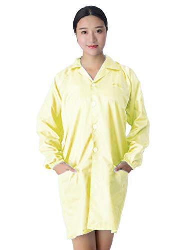 Wamsatto Antistatik Laborkittel Unisex Arbeitskittel Mantel Medizin Uniform Anzug