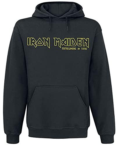 Iron Maiden Terminate Uomo Felpa con Cappuccio Nero L 50% Cotone, 50% Poliestere Regular