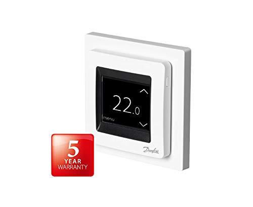 Danfoss 088L0122 ECtemp Touch, Digitaler Thermostat für Elektro-Fußbodenheizung mit Touchscreen-Bedienung