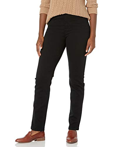 Gloria Vanderbilt womens Amanda Classic High Rise Tapered Jeans, Black, 4P Short US