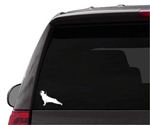 Car Truck Sticker French Bulldog Stretch Yoga Pose Safety Sign Funny Cute Decal for auto