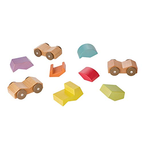 Image of MindWare babu Wooden Baby Collection: Roller car Toys