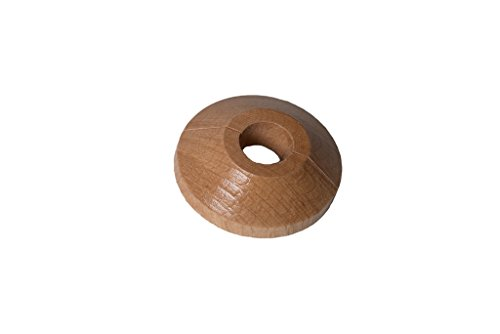 Merriway BH01932 15mm Wooden Pipe Rose-Oak, Pack of 2 Solid Fit
