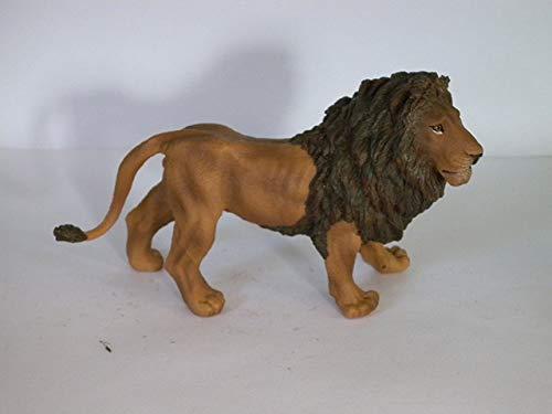 Originele echte wilde dierentuin boerderij Afrikaanse savanne leeuw dier koning vogel serie luipaard kat panter Jaguar model speelgoed kinderen cadeau, grote leeuw