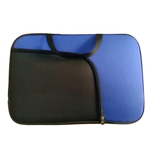 Capa de Notebook de 15,6 Polegadas Azul Royal Bolso Preto
