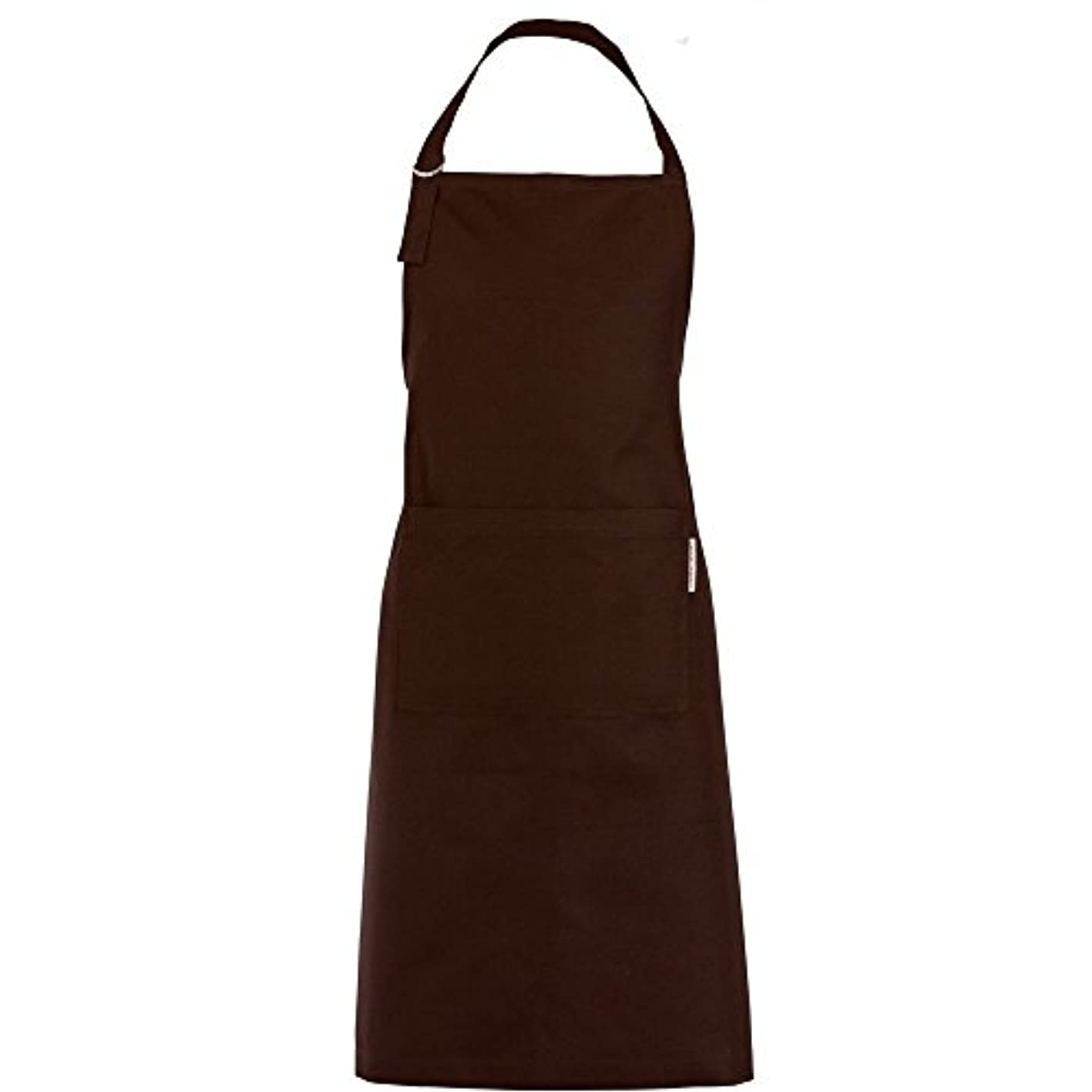 Garnier Thiebaut Mens Apron Cannele Cacao, 100% two-ply twisted cotton, Made in France ipqakluarus301