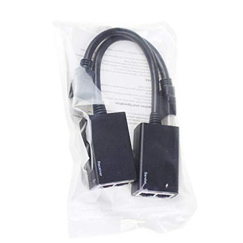 Ashley GAO Práctico HDMI compatible sobre RJ45 CAT5e CAT6 LAN Ethernet Balun Extender Repetidor hasta 1080P de alto rendimiento
