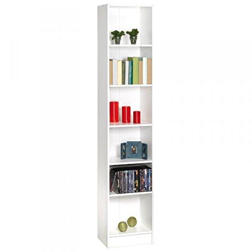 Regal B 40 cm weiß Kinderzimmer Jugendzimmer Wandregal Holzregal Aktenregal Büro Wohn Aufbewahrung Stand Bücher Regalwand