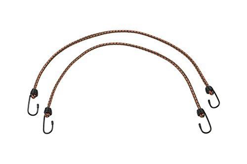 Meister bagagespanner 75 cm - 2 stuks - stalen haken met pvc-coating - elastiek met 2 haken/rubberen klemmen voor fiets, huishouden & werkplaats / 8638300