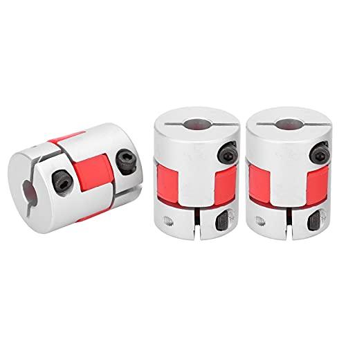 Flexible Couplings, 3Pcs Flexible Coupler Aluminum Alloy Ball Screw Coupling Kit Motor Accessories GMC‑25x30, for 3D Printer CNC Machine and Servo Stepped Motor(Inner hole 10-10)
