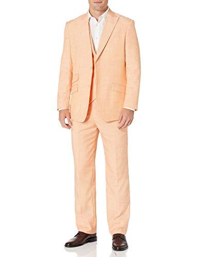 STACY ADAMS Men's 3 Pc. Modern Fit Suit, Brown, 42LNG