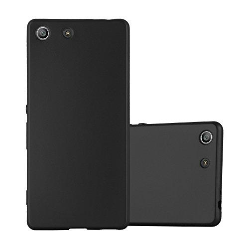 Cadorabo Coque pour Sony Xperia M5 en Metallic Noir - Housse Protection Souple en Silicone TPU avec Anti-Choc et Anti-Rayures - Ultra Slim Fin Gel Case Cover Bumper