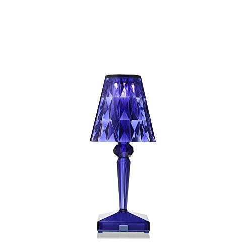 Kartell Battery lámpara de mesa portátil y recargable transparente azul