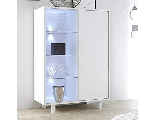 Kofkever Aladin Credenza Madia Disponibile in Bianco .Dimensioni in cm (L-H-P) 106-151 - 50