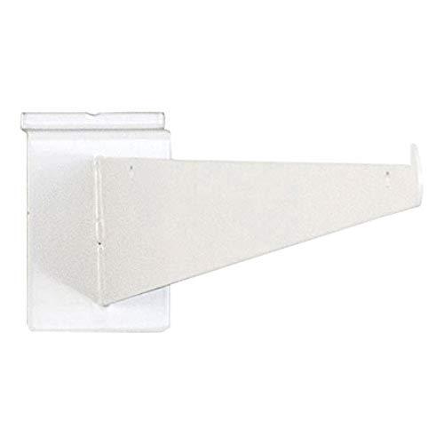 KC Store Fixtures A01710 Slatwall Shelf Bracket, 16', White (Pack of 25)