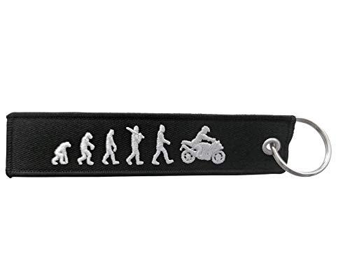 DonJordi Schlüsselanhänger EVOLUTION - Das Geschenk für Biker & Motorradfahrer - Anhänger aus Stoff