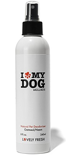 Lovely Fresh Dog Deodorizer Spray, All Natural Grooming Product with Oatmeal and Neem, Keep Your Dog Fresh and Itch Free Between Baths, Relieves Skin Irritation for Sensitive, Dry and Itchy Skin