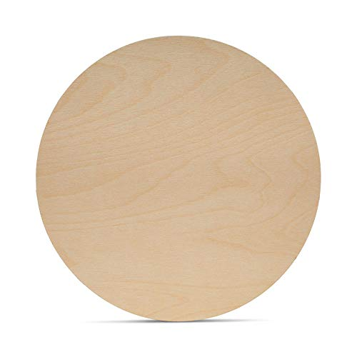 Wood Plywood Circles 12 inch, 1/8 Inch Thick, Round Wood Cutouts, Pack of 5 Baltic Birch Unfinished Wood Plywood Circles for Crafts, by Woodpeckers