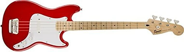 Squier by Fender Bronco Bass, Torino Red with Maple Fingerboard