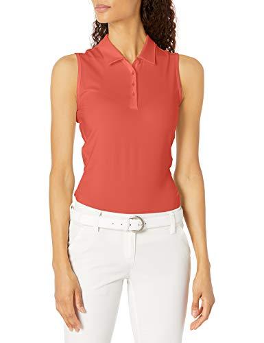 adidas Golf Women's Ultimate365 Primegreen Sleeveless Polo Shirt, Red, Large
