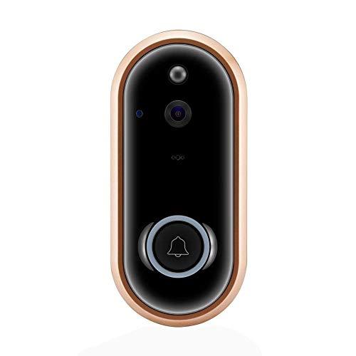 Preisvergleich Produktbild Roll-cc Smart Wireless WiFi Video Türklingel 1080p Cloud Storage Überwachungskamera mit Erkennung Nachtsicht Zwei-Wege-Gespräch und Echtzeit-Video