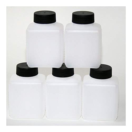 Weithalsflasche Plastik-Flasche Aufbewahrungs-Box PVC Kunststoff 250-500 ml (5, 250 ml)