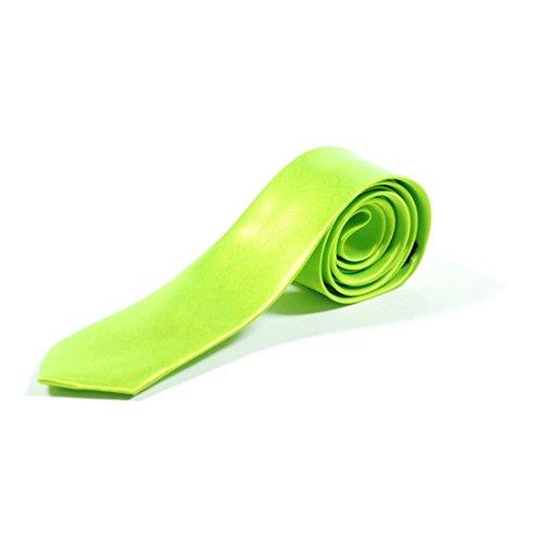 Retro Styler pour homme Uni Vert citron Cravate rétro Déguisement 80 's Cravate vert vert citron taille unique