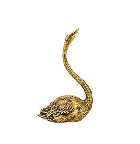 IUYJVR Escultura del Ornamento del Cisne, Accesorios del hogar de los Artes de Cobre del Animal de la simulación de la Estatua del Cisne