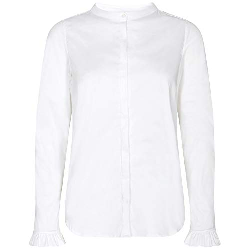 Mos Mosh Damen Bluse Mattie Sustainable Shirt Weiss - L