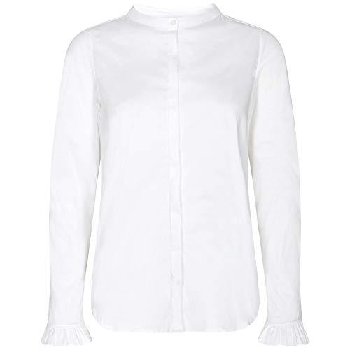 Mos Mosh Damen Bluse Mattie Sustainable Shirt Weiss - S