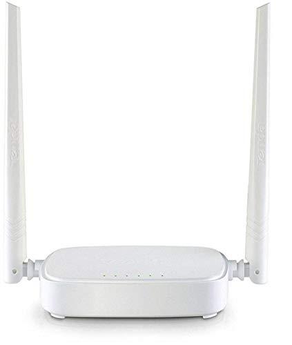 Tenda N301 WLAN Router für Anschluss an Kabel-/DSL- oder Glasfaser-Modem (300Mbit/s über WLAN, 3x LAN-Ports, WPS, für 4K/HD Videostreaming & Online Games,) Weiß