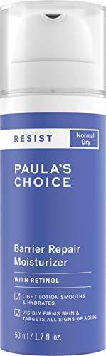 Paula's Choice Resist Anti Aging Barrier Repair Nachtcreme - Anti Falten Feuchtigkeitscreme, gegen Pigmentflecken & Poren Verkleinern mit Retinol & Squalan - Normale bis Trockene Haut - 50 ml