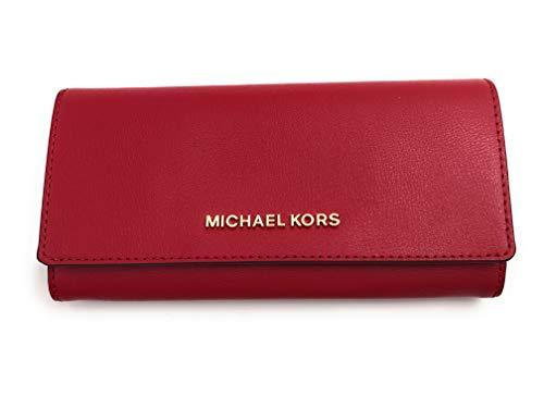Michael Kors Geldbörse - Portmonee - Clutch - 20x10x3cm - Saffian-Leder - Jet Set Travel - Damen - Blau - Weiß - Rot (Rot)