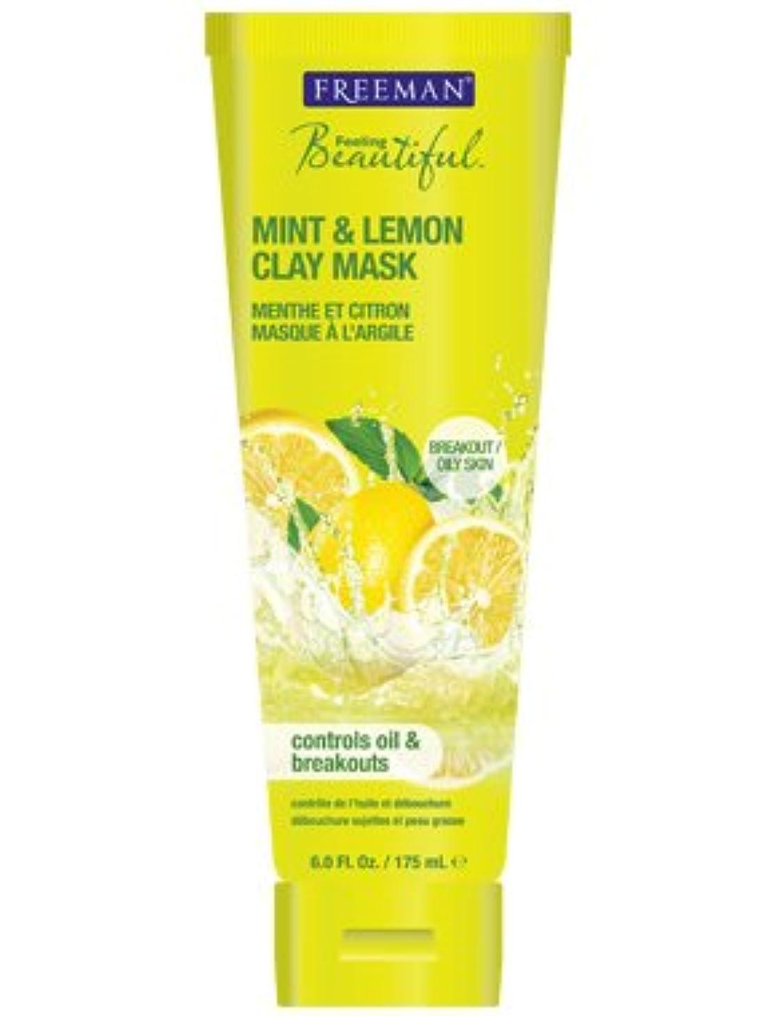Freeman Feeling Beautiful Facial Clay Mask, Mint and Lemon - 6 Oz(175 ml), Pack of 2