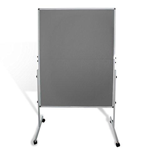 Moderationstafel Filz | klappbar | mit Rollen | 120x150cm | Farbe wählbar (grau) - 2