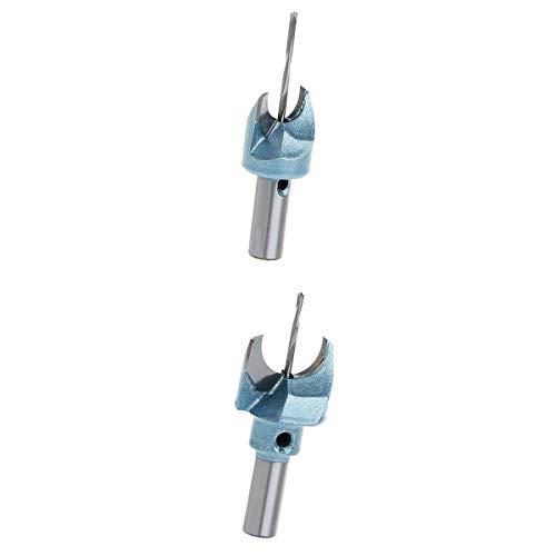 Sharplace 2 Units Tungsten Steel Alloy Drill Precision Drill Bit Set Useful Accessory 15 / 20mm