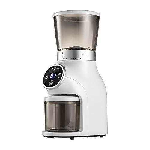 SISHUINIANHUA Kaffeemühle Elektrische Multifunktionshaushaltskaffeemühle Edelstahl Bean Spice Maker Schleifmaschine,Weiß
