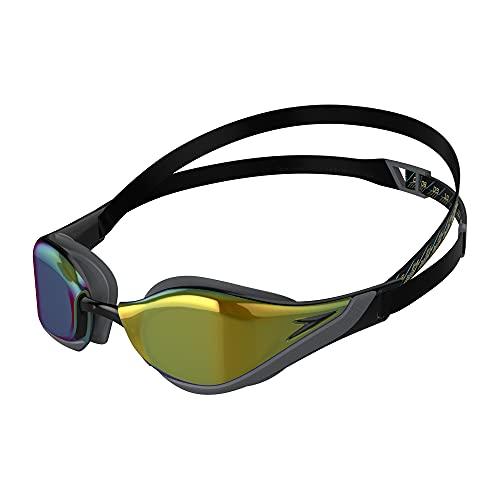 Speedo Fastskin Pure Focus Gog Mir Au Occhialini da Nuoto, Unisex - Adults, Black/Cool Grey/Blue/Gold Taglia Unica
