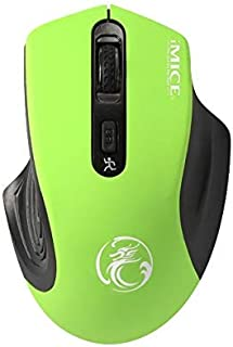 Chunjiao 2.4GHz 2000DPI Adjustable USB 3.0 Receiver Optical Computer Mouse Stylish personality mouse (Color : Green)