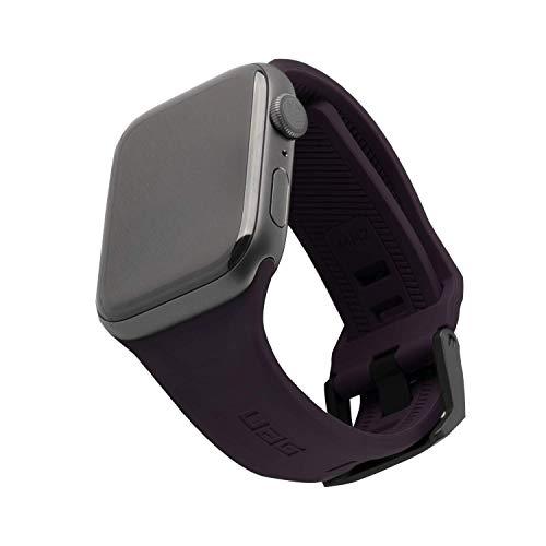 Urban Armor Gear Scout Correa para Reloj Apple Watch 42mm / 44mm [Watch SE, Series 6 / Series 5 / Series 4 / Series 3 / Series 2 / Series 1, Silicona Blanda, Cierre de Acero] púrpura