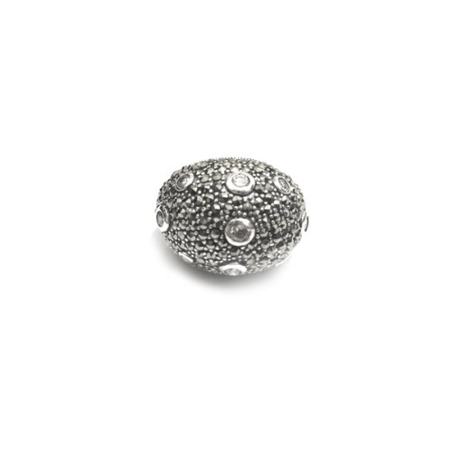 apop nyc Sterling Silver Marcasite Bubble Dome Ring Size 8 [Jewelry]
