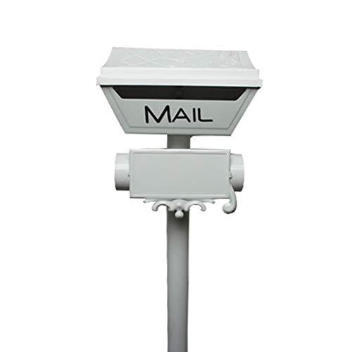Gussaluminium-Mailbox Heavy Duty Postal Box Sicherheit Aluminium-Pfosten/Pedestal Guss Mailbox, Grau zhihao