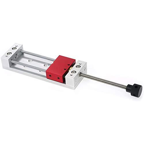 Holzschnitzschraubstock Hochpräzisionsschleifmaschine Mini Modellschraubstock, Für Flachschleifmaschine Fräsen Tischplattenzangen,Silber
